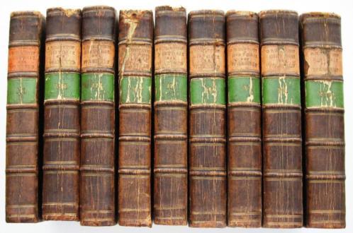 Historie der Waereld 1780-88 - 9 DELEN COMPLEET 34 gravures
