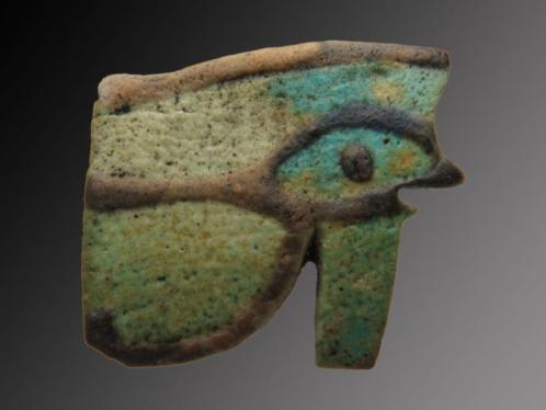 Big Egyptian faience Eye of Horus (Wedjat/Udjat) amulet