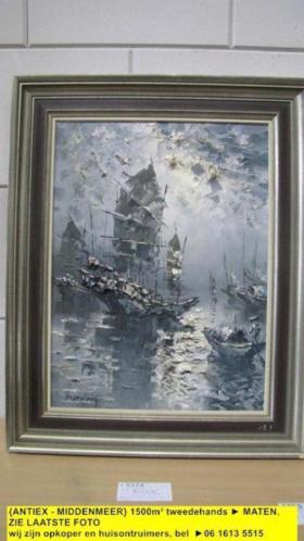 9374 - schilderij van of door Wayne Groenestein chinese jonk