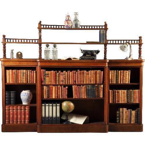 Antieke kasten / Open boekenkast beakfront ca. 1860 in ma...