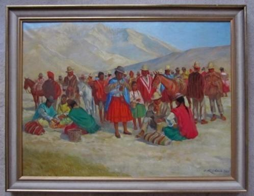 =uit 1926======indianen in de bergen====gesigneerd =====