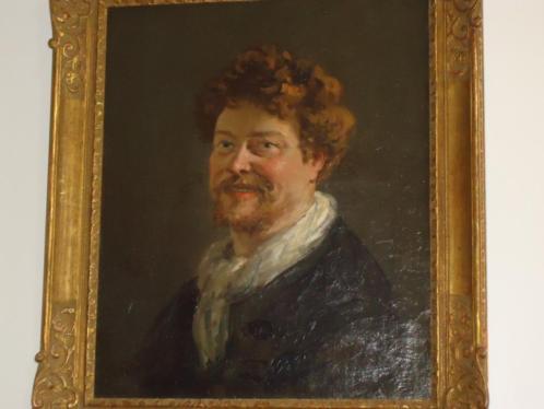 Georges PETIT-WERY °1845-1881 FR. portret antieke olie/doek
