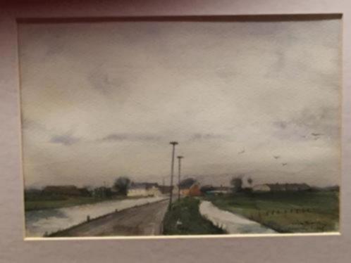 Aquarel Polderweg te Kethel uit 1976