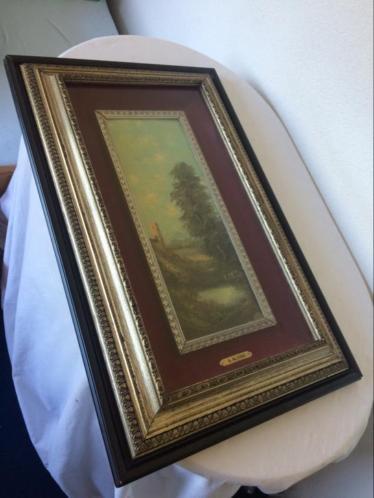 Schilderij A Alvino Landschap Romantisch Italië MOOI!!