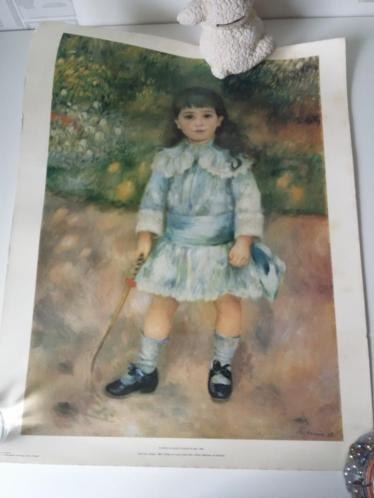 Schilderij print Child with Whip Pierre Auguste Renoir