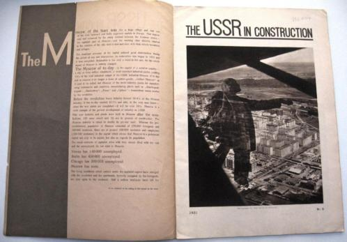 USSR in Construction 1931 Nr. 9 Moskou Industrie Rusland