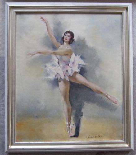 ==========dansende ballerina = ====gesigneerd=====