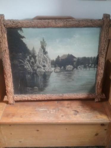 Twee schilderstukken uit 1906 van Olterterp en Anholt