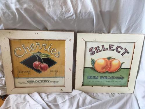 Mooie schilderijen met vruchten afbeelding