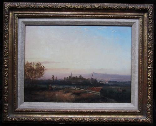 ====panoramisch landschap==19e eeuw==GESIGNEERD !!====