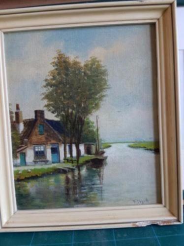 Olieverf schilderij Piet Clijnk Zaanstreek