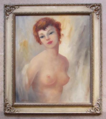 erotisch vrouwelijk naakt==gesigneerd=wie kent de signatuur?