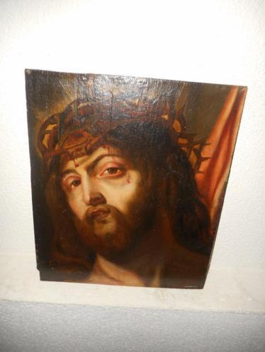 Antiek olieverf +- 1850, Religie Christus Jezus