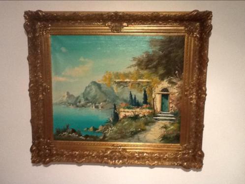 Schilderij Villa/Huis aan Meer