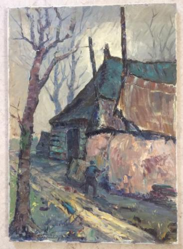 Olieverf op doek, Trappenburg, 1962.
