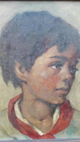 oud olieverf doek Zigeunerjongen Philibert Foole 1914-1978