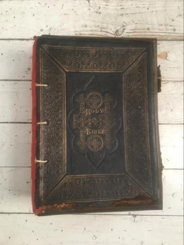 1877 Holy Bible Matthew Henry J. G. Murdoch bijbel antiek