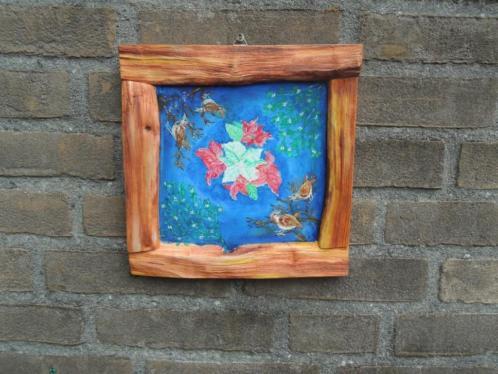 Schilderijtje Winter in houtlijst