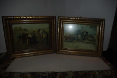Oude kleine schilderijtjes