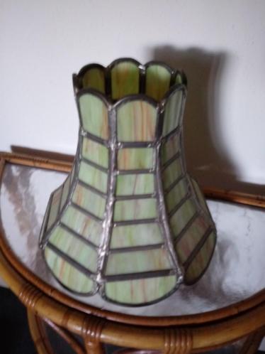 Antieke Glas In Lood Lampenkap