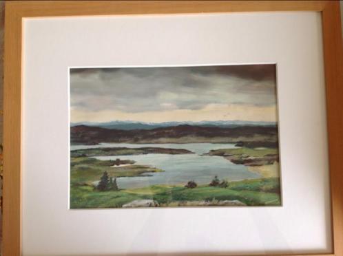 """Aquarel """"landschap """"Noorwegen """" marius Koolvoort"""