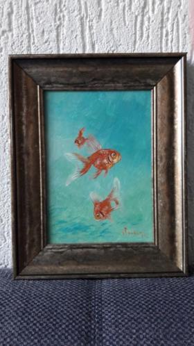 Goudvissen schilderij