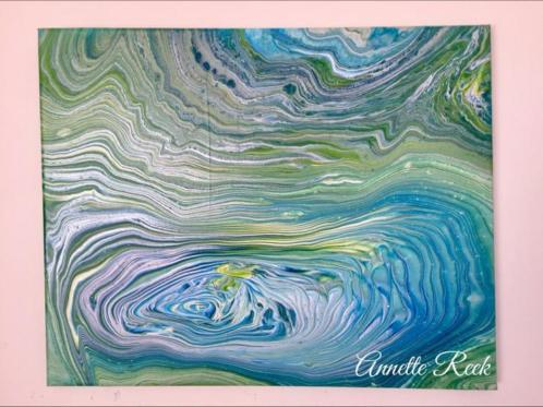 Abstract acryl 40 cm x 50 cm