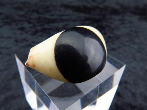 Big Egyptian eye made of alabaster and a serpentine pupil