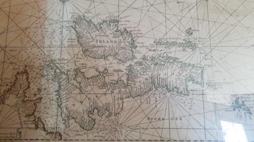 Fraaie 17e eeuwse kaart Groot Brittannië en zuid europa.