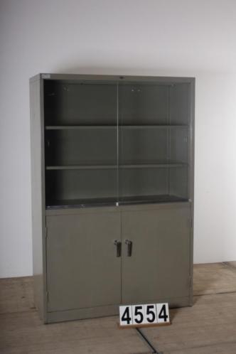 Industriële retro vintage kast/vitrinekast nr.4554