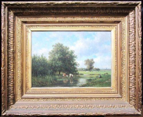 ===OOSTERHOUT==koeien in landschap===Willem Vester 1824-1871