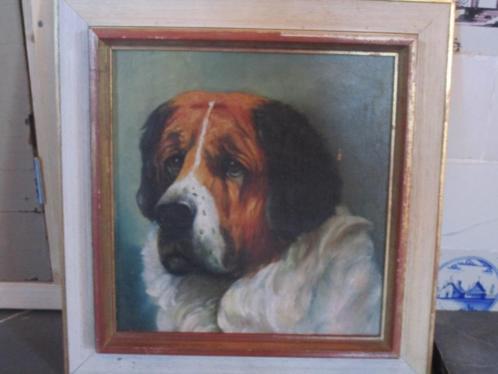 Portret hond echt geschilderd
