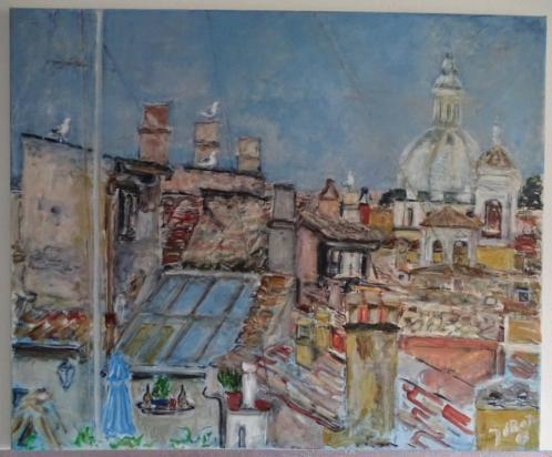 Joan de Bot, Goodmorning Rome, 2003, olieverf op linnen
