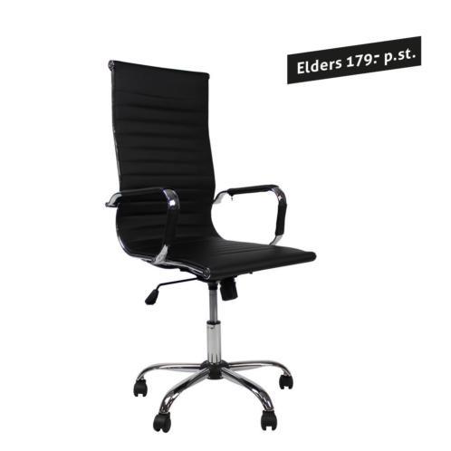 Bureaustoel Big Chief - Zwart 64x106x46 cm
