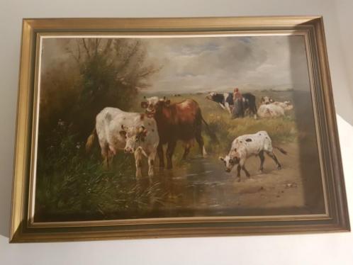 Henry schouten Koeien in wad