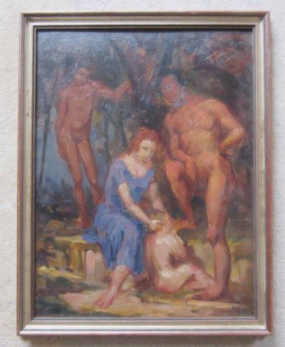 ==naakten in het bos======Hans Kohl 1897-1990===DUITS===