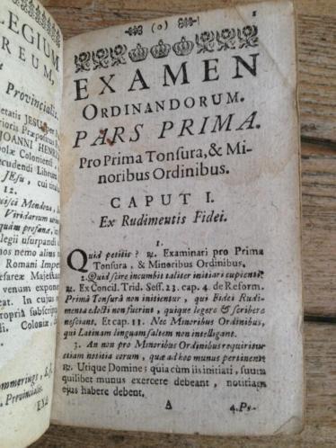 Sennyei Examen ordinandorum 1748 leren band met sloten
