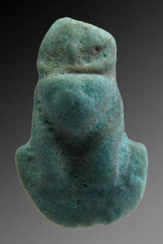 Egyptian faience fragment of Aegis as Bastet