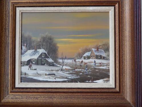 schilderij winterlandschap gesigneerd