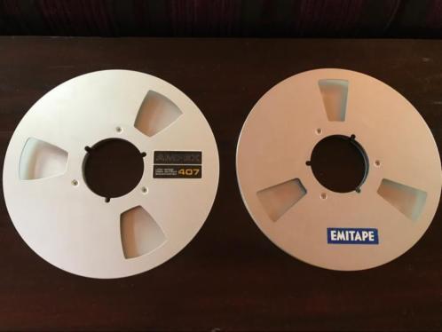 2 grote metalen 26,5cm reels / bandrecorderspoelen