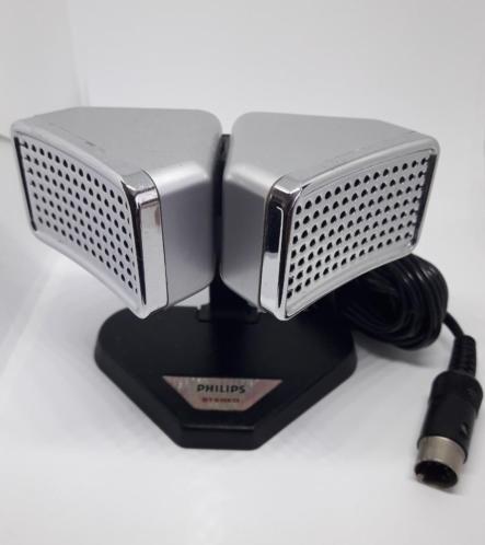Philips N8402 stereo bandrecorder microfoon met lange kabel