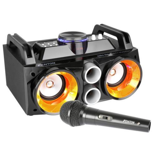 Fenton MDJ100 mobiele karaoke set met Bluetooth & microfoon