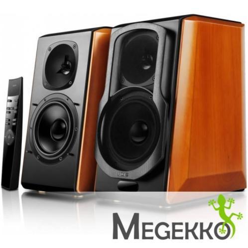 Edifier S2000 Pro 124W Zwart, Hout luidspreker
