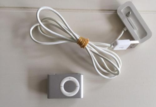 NIEUW Apple iPod Shuffle tweede generatie 1 GB + oplader €30