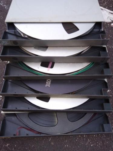 Highend retro bandrecorders spoelen 26cm Revox,Maxell,TDK