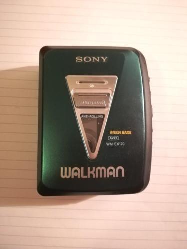 Sony walkman in goede staat, vintage, retro, donkergroen