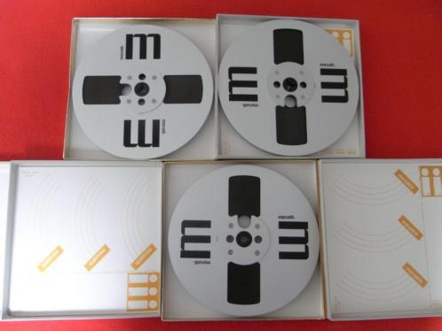 3 x Maxell 18 cm. ALU. met Maxell UD 35-90 Tape. Inkl.