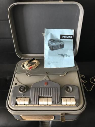 Antieke philips band recorder Type EL.3516 werkt en compleet