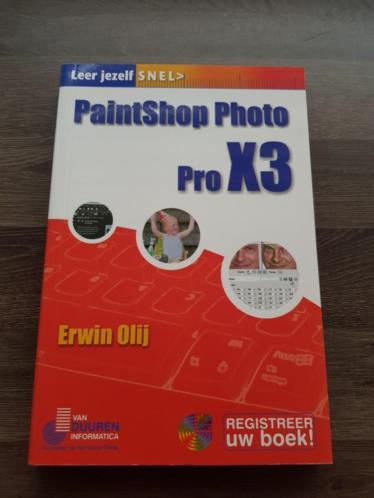 Boek PaintShop Photo Pro X3 vab Erwin Olij