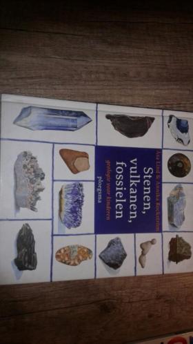 Boek stenen, vulkanen, fossielen geologie voor kinderen